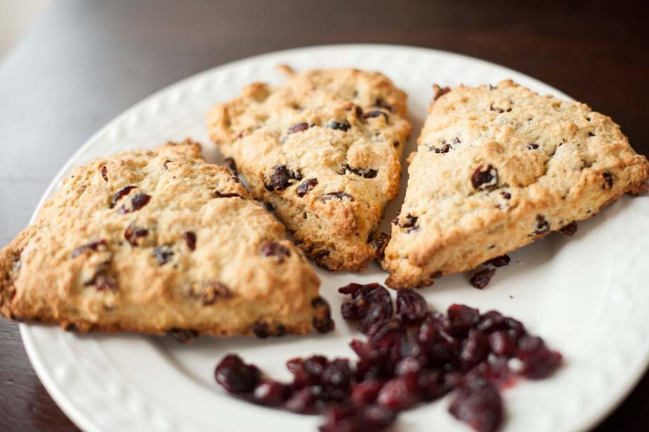 buttermilk cranberry scones
