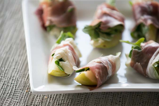 pears with brie and prosciutto