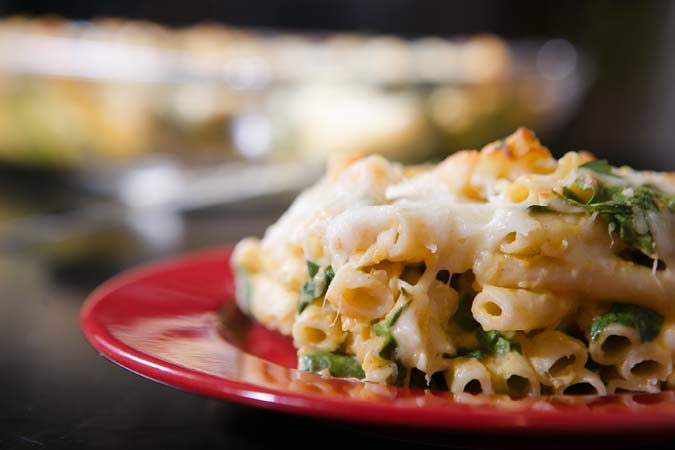 baked rigatoni with kale
