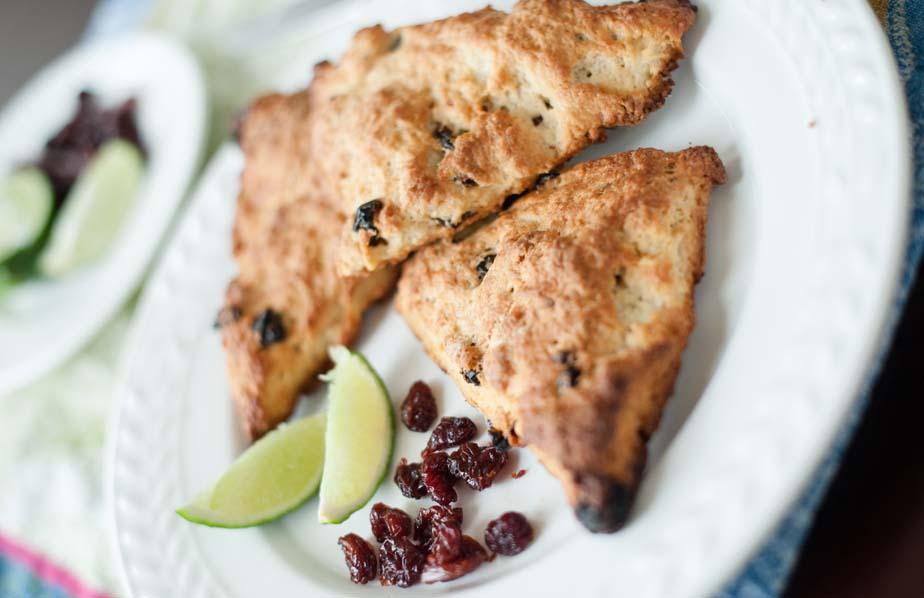 cherry lime scones