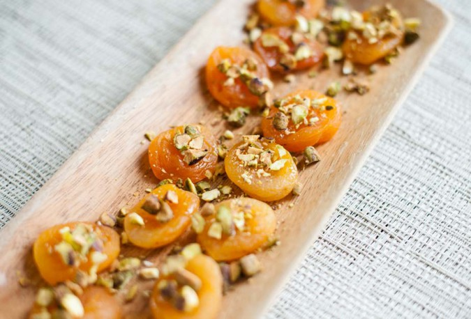 simple savory apricots