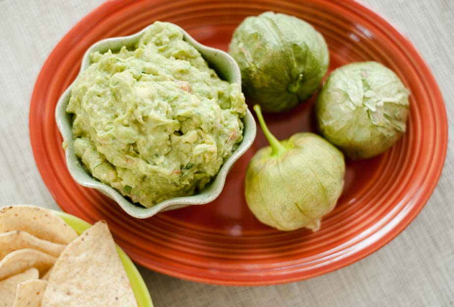 Roasted Tomatillo Guacamole - In Good Taste