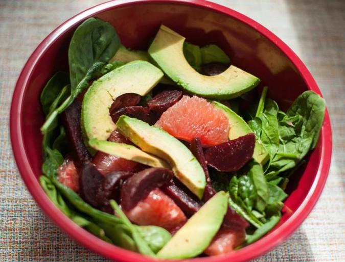 beet avocado grapefruit salad