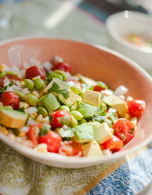 Avocado, Corn & Edamame Salad - In Good Taste