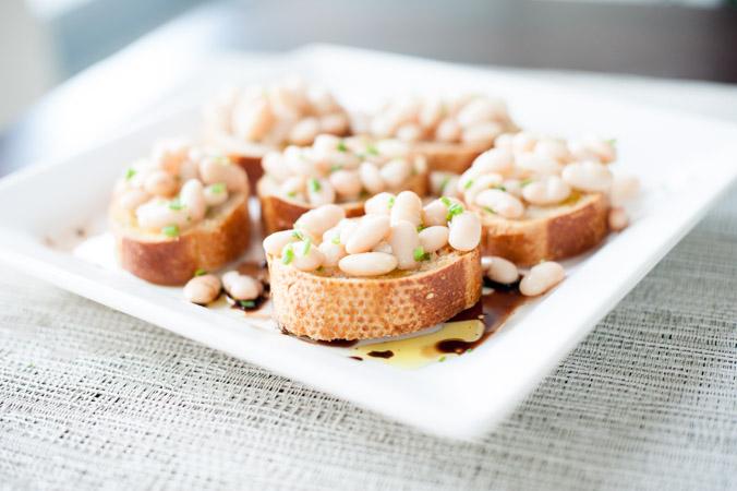 White Bean Bruschetta with Olive Oil & Herbs - In Good Taste