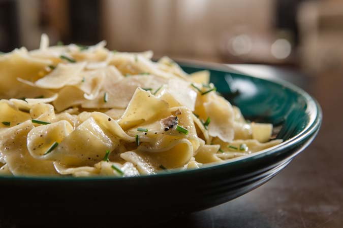 Truffle Butter Pasta pappardelle with white truffle butter cream sauce