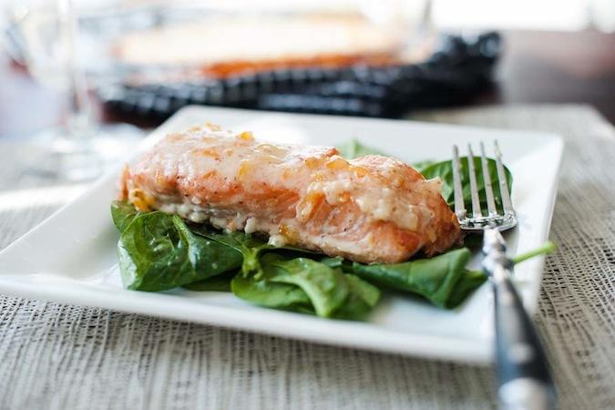 baked salmon with dijon glaze