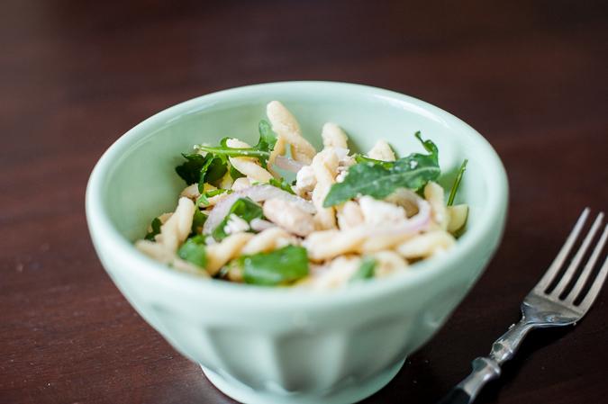 arugula white bean pasta salad