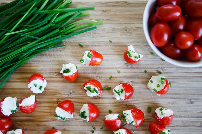 Goat Cheese Stuffed Cherry Tomatoes - In Good Taste