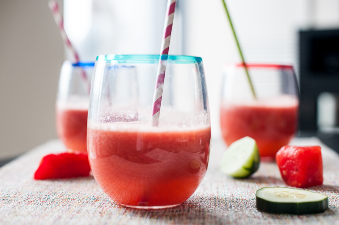 watermelon cucumber cooler