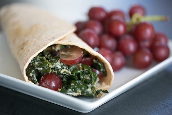 kale salad wrap
