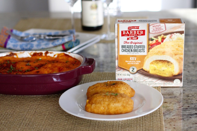 Barber Foods Chicken Kiev : New Barber Foods Chicken Kiev + Herbed Scalloped Potatoes - In Good ...