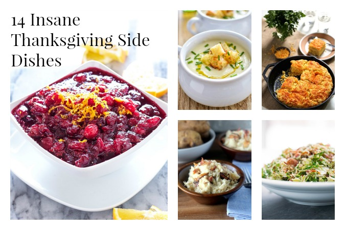 side dishes collage