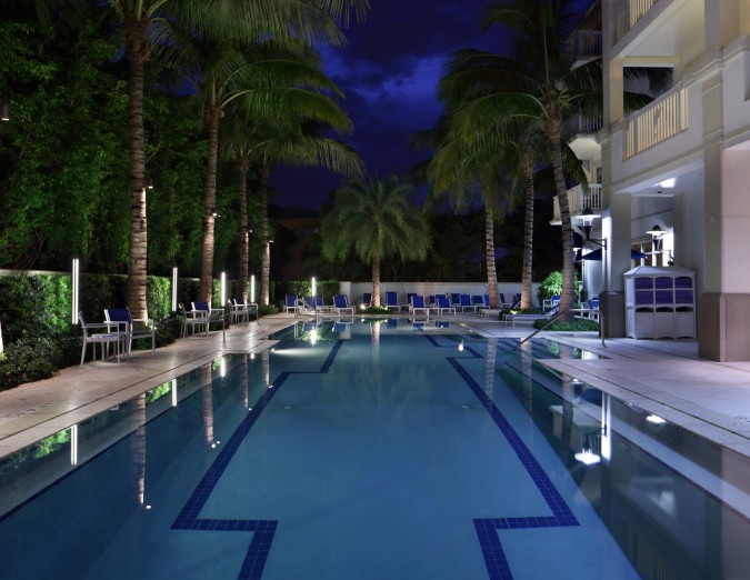 Seagate Hotel Spa Hotel Pool Night