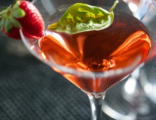 strawberry basil martini