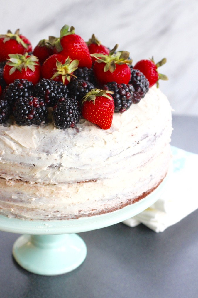 Homemade GlutenFree Chocolate Naked Cake Recipe from King Arthur