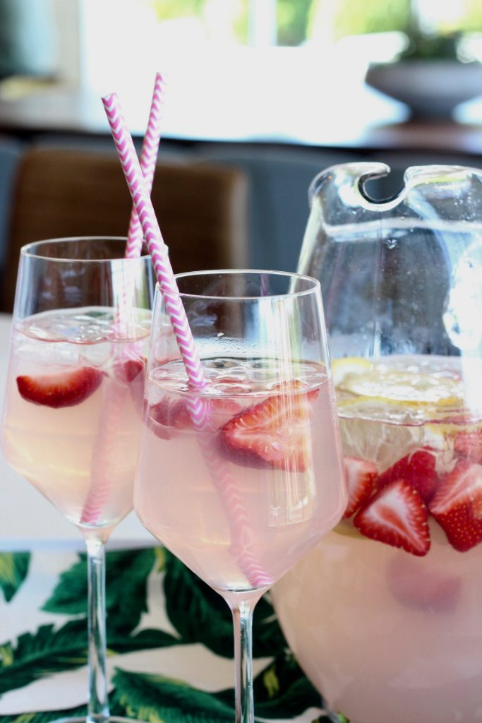rose lemonade cocktail