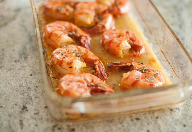 baked shrimp in lemon garlic sauce