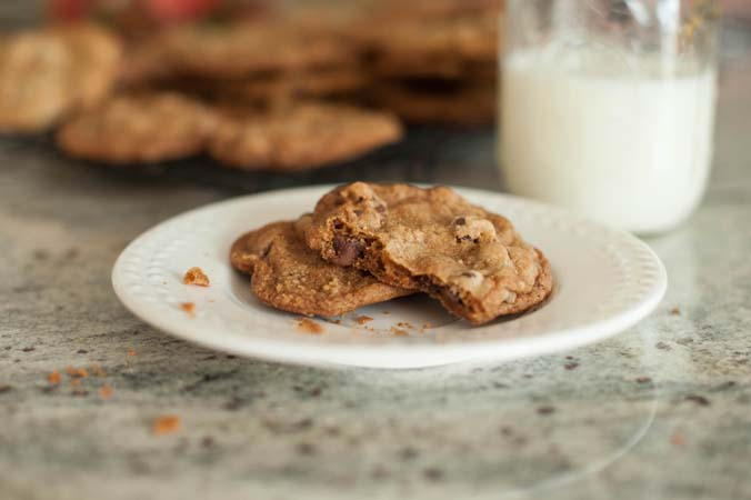 sweet william's spirited chocolate chip cookies