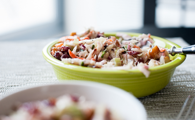 coleslaw with almonds and cranberry