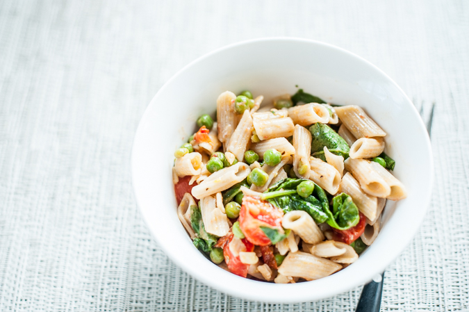 baby penne with ricotta and summer vegetables